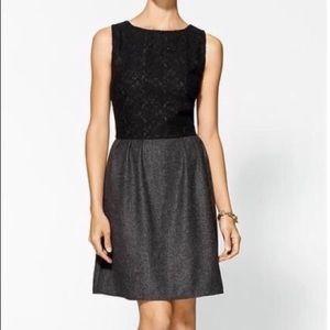 GUC Pim + Larkin grey dress with lace bodice